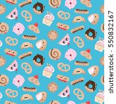 seamless pattern with different ... | Shutterstock .eps vector #550832167