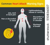 common heart attack warning... | Shutterstock .eps vector #550836007