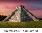 beautiful sunset at chichen... | Shutterstock . vector #550852423