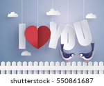 concept of  love and valentine... | Shutterstock .eps vector #550861687