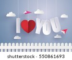 concept of  love and valentine... | Shutterstock .eps vector #550861693