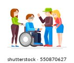 special needs child with... | Shutterstock .eps vector #550870627