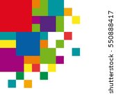 geometric abstract rainbow... | Shutterstock .eps vector #550888417