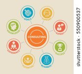 consulting. concept with icons... | Shutterstock .eps vector #550900537
