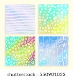 4 abstract backgrounds with... | Shutterstock .eps vector #550901023