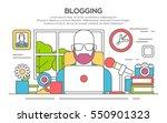 vector illustration of a man... | Shutterstock .eps vector #550901323