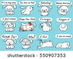 cartoon rabbit set   Shutterstock .eps vector #550907353