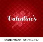 valentine's day with cupid.... | Shutterstock .eps vector #550913647