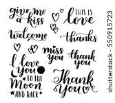 vector set of handwritten... | Shutterstock .eps vector #550915723