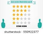 5 star rating icon vector...   Shutterstock .eps vector #550922377
