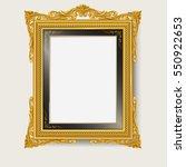 vintage gold photo frame | Shutterstock .eps vector #550922653