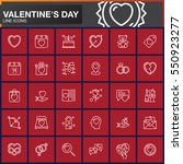 valentine's day line icons set  ...   Shutterstock .eps vector #550923277