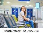 beautiful young tourist girl... | Shutterstock . vector #550929313