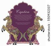 horse shield design logo | Shutterstock .eps vector #550932337