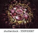 grunge flower background texture | Shutterstock . vector #550933087