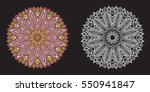 set of white and color mandalas   Shutterstock .eps vector #550941847