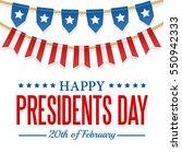 presidents day background. usa... | Shutterstock .eps vector #550942333
