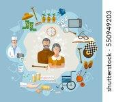 nursing home   social help... | Shutterstock .eps vector #550949203