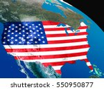 usa with embedded national flag ...   Shutterstock . vector #550950877
