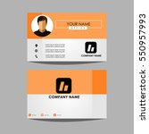 layout template id card for... | Shutterstock .eps vector #550957993