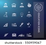 education icon set. vector | Shutterstock .eps vector #550959067