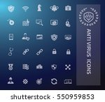 anti virus and computer icon... | Shutterstock .eps vector #550959853