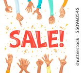 vector flat sale banner with...   Shutterstock .eps vector #550960543