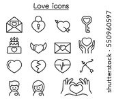 love icons set in thin line... | Shutterstock .eps vector #550960597