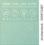 set of 1000 isolated minimal... | Shutterstock .eps vector #550972387