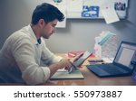 business man working on digital ... | Shutterstock . vector #550973887