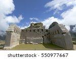 machu picchu  main temple of... | Shutterstock . vector #550977667