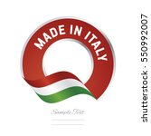 made in italy flag red color...