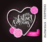 vector hand lettering... | Shutterstock .eps vector #550995043