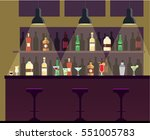 bar  pub  night club interior... | Shutterstock .eps vector #551005783