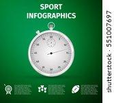 realistic sport infographics... | Shutterstock .eps vector #551007697