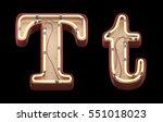 neon sign font. 3d rendering | Shutterstock . vector #551018023