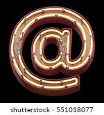 neon sign font. 3d rendering | Shutterstock . vector #551018077