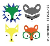 cute animals | Shutterstock .eps vector #551031493