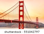 Stock photo golden gate bridge in san francisco california usa 551042797