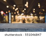 stone table top and blurred... | Shutterstock . vector #551046847