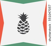 pineapple vector icon. tropical ... | Shutterstock .eps vector #551047057
