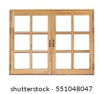 Wooden Window  Isolated On...