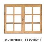 Wooden Window  Isolated On...