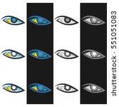 eye logo   Shutterstock .eps vector #551051083