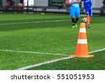 soccer ball tactics on grass... | Shutterstock . vector #551051953