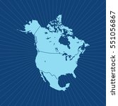 map of north america | Shutterstock .eps vector #551056867
