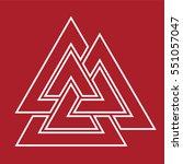 valknut symbol . vector... | Shutterstock .eps vector #551057047