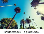 tall palm trees in beverly... | Shutterstock . vector #551060053