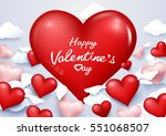valentine's day background with ... | Shutterstock .eps vector #551068507
