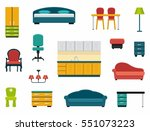 icons of various kinds of... | Shutterstock .eps vector #551073223